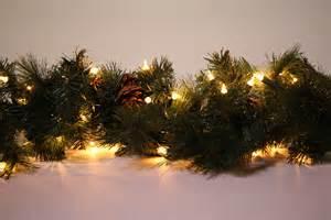 Christmas garland hire 9ft long natural pea lit garland