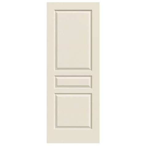 jeld wen 30 0 in x 80 in smooth 2 panel solid core jeld wen 30 in x 80 in woodgrain 3 panel primed molded