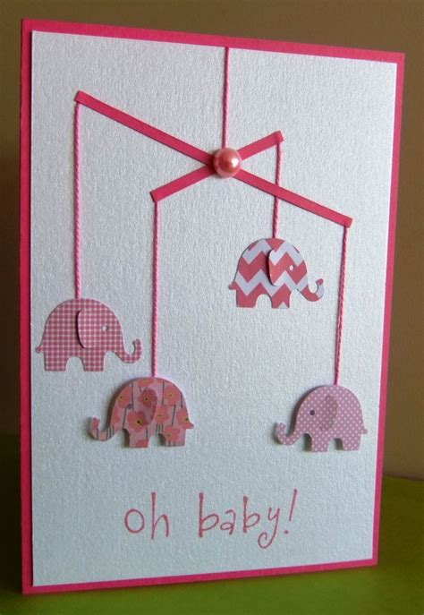 Handmade Baby Shower Cards - 25 best ideas about handmade baby cards on