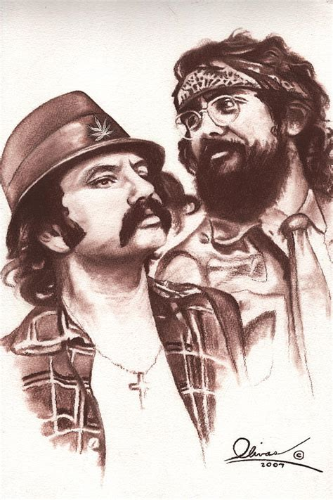 cheech and chong mixed media by bill olivas