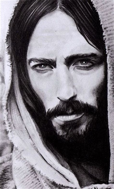 Drawing Jesus by Jesus Portrait Drawing Original Miniature Pencil Drawing