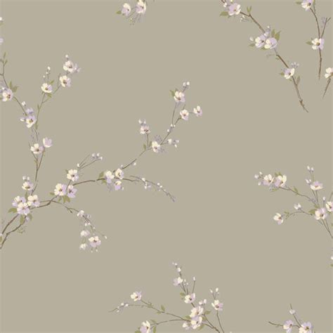 oriental wallpaper grey grey and purple oriental spring blossoms wallpaper