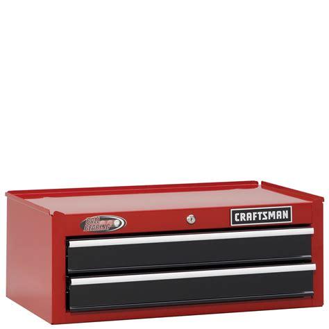craftsman 2 drawer black tool box craftsman 26 quot wide 2 drawer ball bearing middle chest