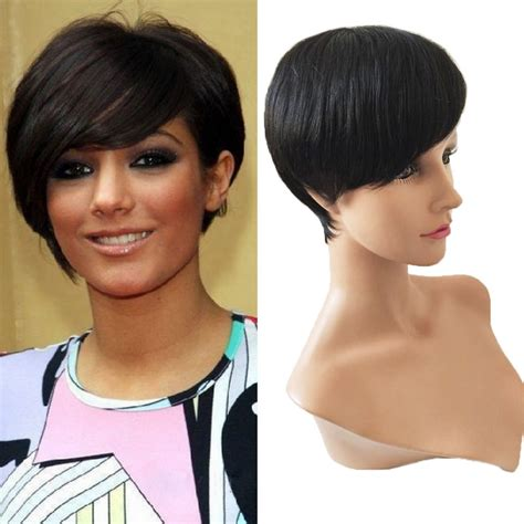 image of short brazillian hair 2015 celebrity wig machine made short wig human hair none