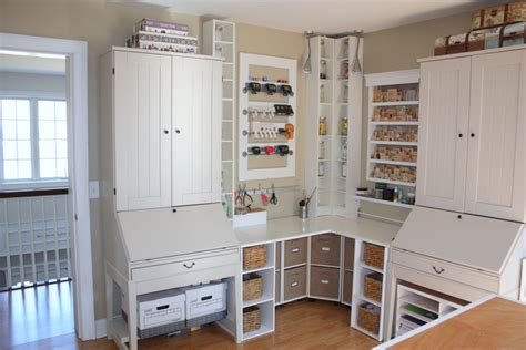 white craft room furniture some considerations when building your own craft room