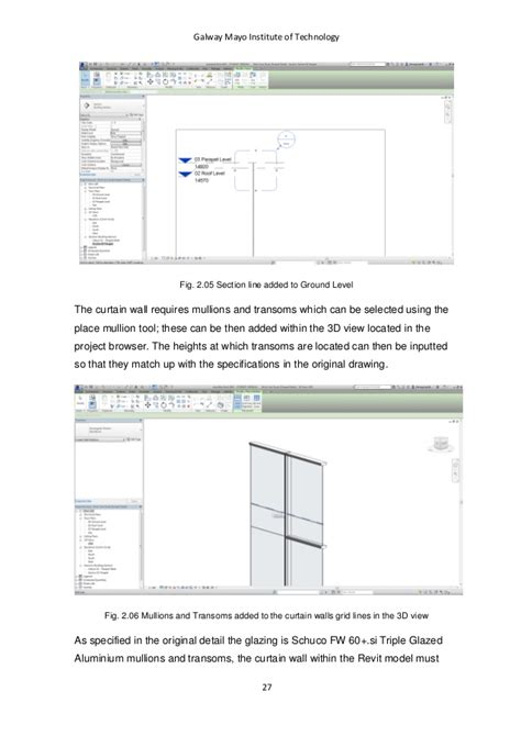 technical report sections curtain wall section specifying default and profile