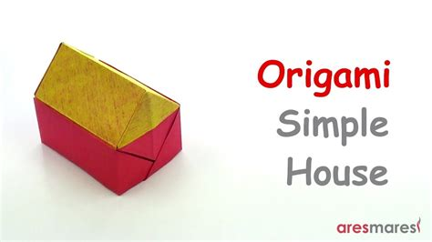 origami tutorial house square origami simple house easy single sheet