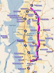 Seattle Area Traffic Map by 405 Seattle Freeway Map