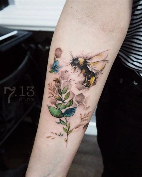 honeybee tattoo bee on sleeve bodytattoos tattoos