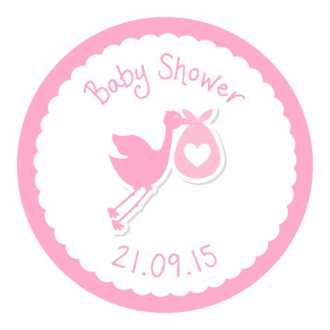 Shower Stickers by Stork Baby Shower Stickers Pink