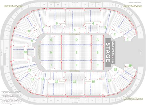 Nottingham Arena Floor Plan | nottingham motorpoint arena detailed seat row numbers
