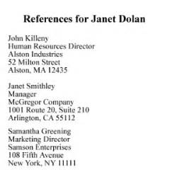 Reference list example copyright alison doyle