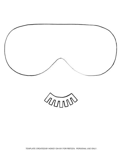 printable sleep mask template diy no sew sleeping mask