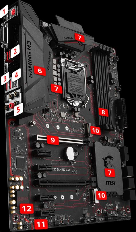 Motherboard Msi B150 Gaming M3 Lga1151 overview for b250 gaming m3 motherboard the world