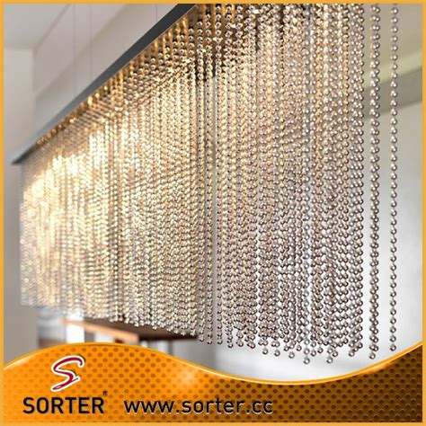 chain curtain room divider stainless steel ball chain metal bead curtain room