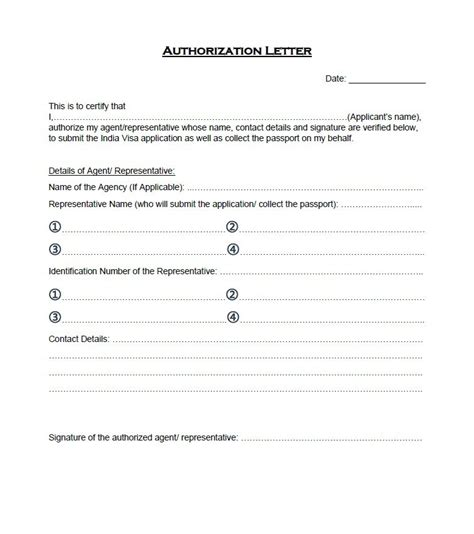 authorization letter as a representative 46 authorization letter sles templates template lab