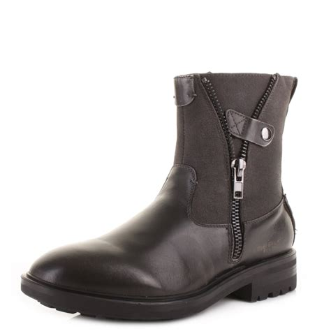 replay mens boots mens replay cottage grey pull on ankle biker casual