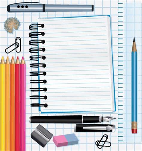 school supplies template vector free school supplies vectors