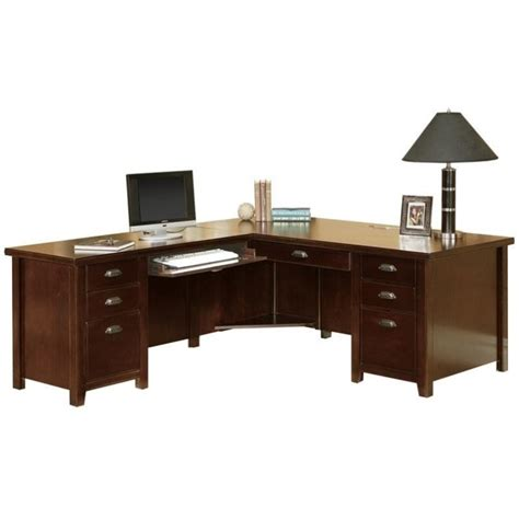 L Shaped Cherry Desk Kathy Ireland Home By Martin Tribeca Loft Cherry Lhf L Shaped Executive Desk Tlc684l Tlc684l R Kit