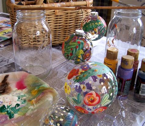 painting ornaments with acrylic paint and alfalfa painted glass ornaments how to