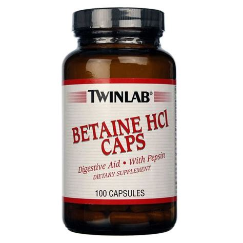Betaine Hcl Detox by Twinlab Betaine Hcl 100 Caps Evitamins