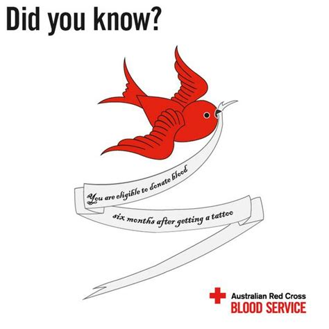 if you get a tattoo can you donate blood australian cross blood service blood