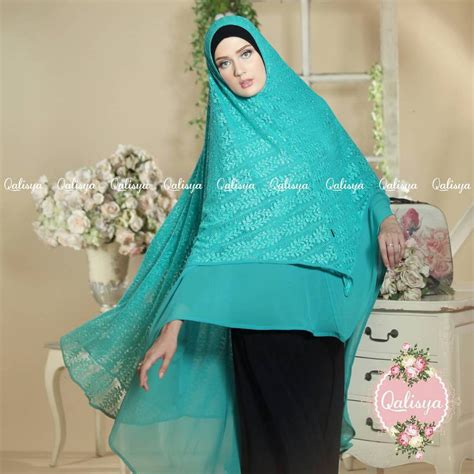Jilbab Khimar Jumbo Terbaru Khimar Jannata Ori By Qalisya Jilbab Syar I Jumbo Cantik