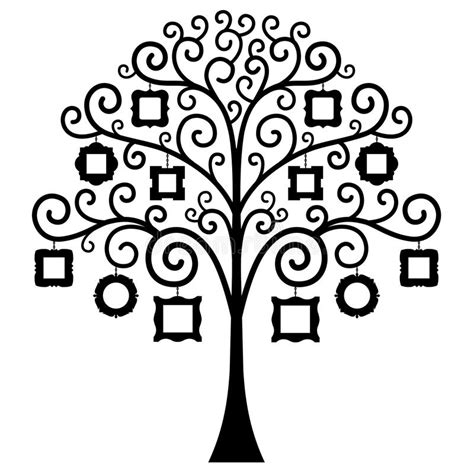 Vector Family Tree Template Stock Vector Illustration Of Blank Gift 76657996 Vector Image Template Family Tree