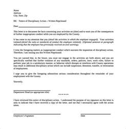 written notice letter template sle warning letter for student misconduct sle