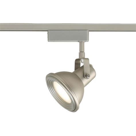 industrial look track lighting commercial electric led brushed nickel restoration style