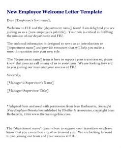 Letters To Staff Templates by Welcome Letter Template 7 Free Word Pdf Documents