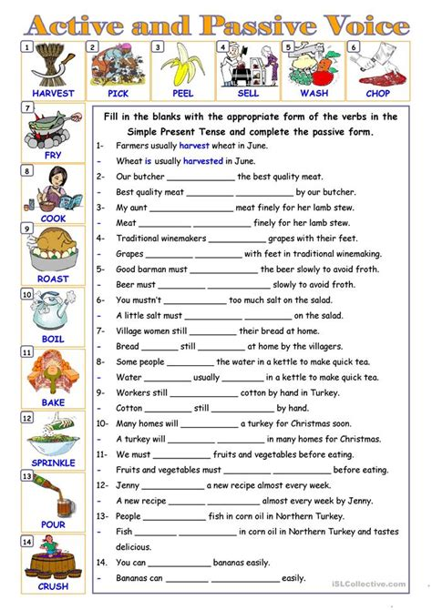 exercises with keys free english materials for you passive voice worksheet free esl printable worksheets