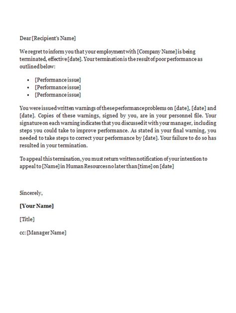letter of termination of employment template employment termination letter template uk templates