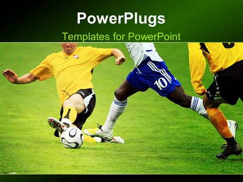 templates powerpoint soccer powerpoint template tackle by defensive soccer player on