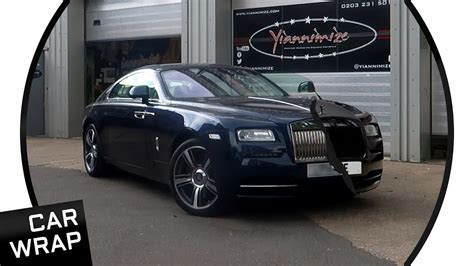 wrapped rolls royce rolls royce wraith wrapped satin and gloss black