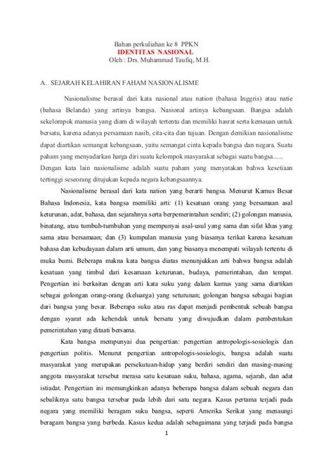 Sejarah Pendidikan Nasional Oleh Muhammad Rifai bahan perkuliahan ke 8