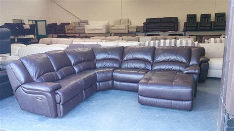 leather electric recliner chaise corner sofa ex display ronson brown leather electric recliner corner