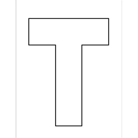 letter t template preschool free block letter t coloring pages