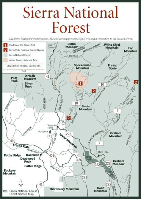california map national forests sherpa guides california nevada