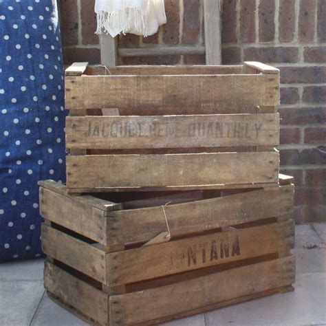vintage wood crates rustic decorative boxes by