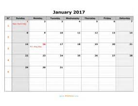 Calendar Monthly Template by 2017 Monthly Calendar Template Weekly Calendar Template