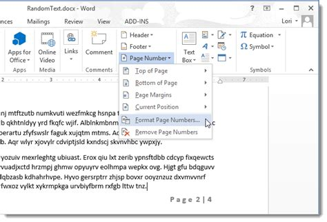 word page numbers sections how to omit the page number from the first page of a word
