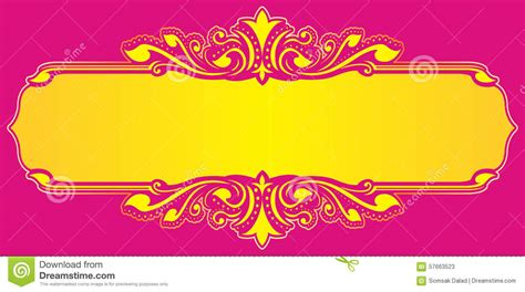 Wedding Name Background floral frame yellow vector stock vector illustration of