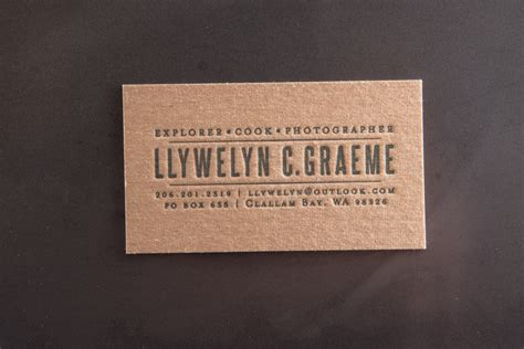 printable kraft paper business cards explore cook photography pike street press