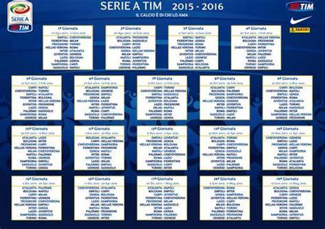 Serie B Calendrier 2016 Il Calendario Della Serie A 2015 2016 Foto Sport