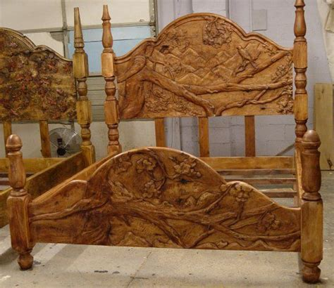 carved wooden headboard hand carved custom headboards and footboards love this