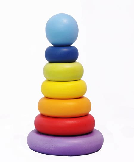 Atham Toys Menara Donat Pelangi wooden toys mainseru
