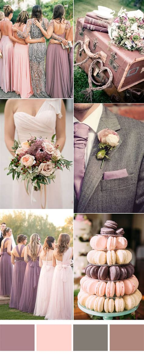 wedding color ideas six pretty mauve wedding color combos for all brides