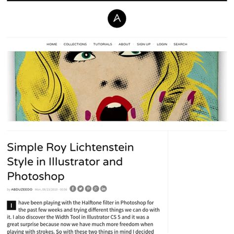 tutorial photoshop roy lichtenstein simple roy lichtenstein style in illustrator and photoshop