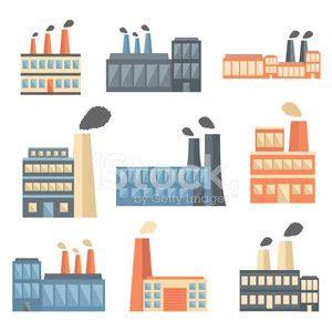 design icon factory 一套公寓工厂图标 premium clipart clipartlogo com
